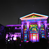 Osaka City Hall goes purple during the Audio Visual presentation. Part of the 2012 Hikari Renaissance in Osaka.