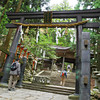 Approaching the Top.<br /> Of Mount Atago.<br /> Here is the famous black Torii (Shrine Gate), normally these gates are red or sometimes plain concrete or wood colour.