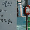 "Graffiti, Athens, Greece (""Save the last tree so you can hang yourselves"")"