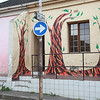 Street art in Woodstock, Cape Town: Twisted trees