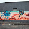 Street art in Woodstock, Cape Town: funfair and hot air balloon