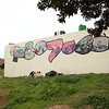 Street art in Cape Town: 90807060; the political changes in South Africa from the 60s to 90s