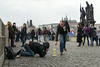 Beggar on Charles bridge, Prague