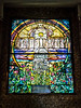 The Flight of Souls, A window designed and created by the Tiffany Glass Studios.  Before installation in the chapel, the window was exhibited at the 1900 Exposition Universelle in Paris, where it won a gold medal.  It measures roughly 7 feet x 9 feet.  Wade Memorial Chapel, Lake View Cemetery Cleveland, Ohio September 13, 2013
