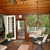 All Ipe porch with fir ceiling