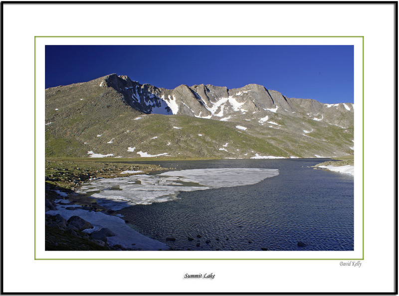 Summit lake, landscapes on Mount Evans