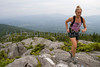 Emily Johnson Trail running Green Mountains, Vermont, USA