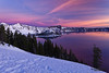 Winter Scene at Crater Lake National Park, Oregon, U.S.A.