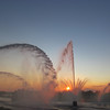 08-23-13 Dayton 23 Riverscape sunset fountains