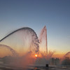 08-23-13 Dayton 19 Riverscape sunset fountains