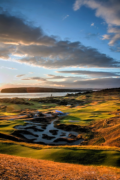 Sunset over Chambers Bay (HDR)