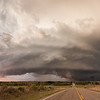 Incredible supercell structure in the Texas Panhandle near Alanreed on October 11, 2011.