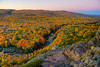 View looking SW from Lake of the Clouds overlook at Fall Peak, Porcupine Mountains State Park, Michigan---LS-5030