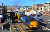 37607 storms through Paignton on the:<br /> 1Q03 04:10 Plymouth to Plymouth<br /> <br /> 12/06/14