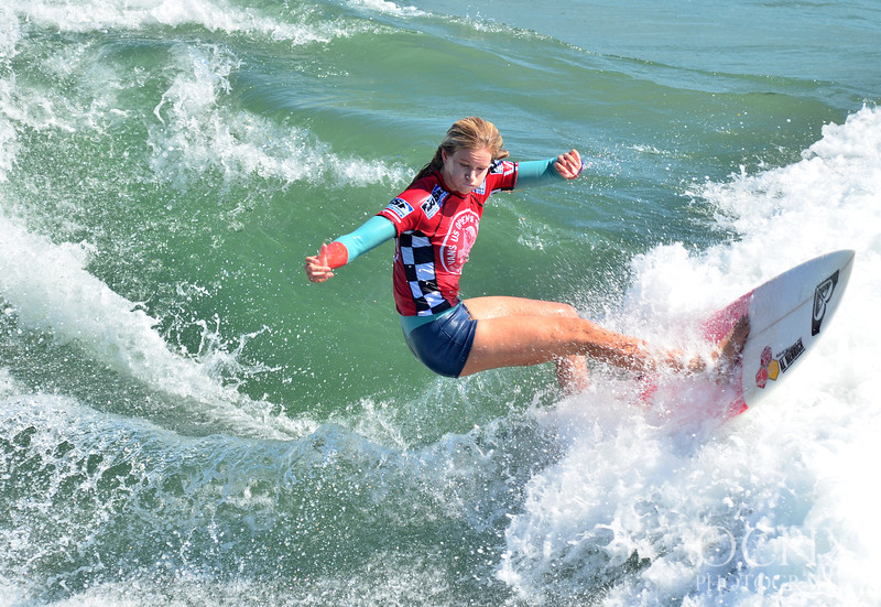 Bianca Buitendag at the 2013 Vans US Open of Surfing in Huntington Beach.