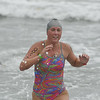 Myka Winder is all smiles as she finishes the 2014 Dwight Crum Pier to Pier Swim.<br /> <br /> Photo by: Kohei Wada