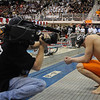 Taylor Dale prepares to swim in the men's 100 yard backstroke final at day four of the SEC Swimming and Diving Championships on Friday, February 21, 2014 in Athens, Ga. (Photo by Sean Taylor)