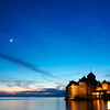The Chateau de Chillon at sunset
