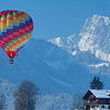 Balloon and chalet