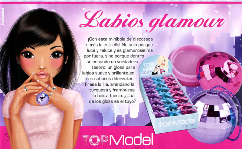 TOP MODEL Lip Gloss 2013 Spain (half page) 'Labios glamour'