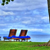 May 26 2013 Walking the coast of Wailea, Maui, The lawn chairs were calling my name,