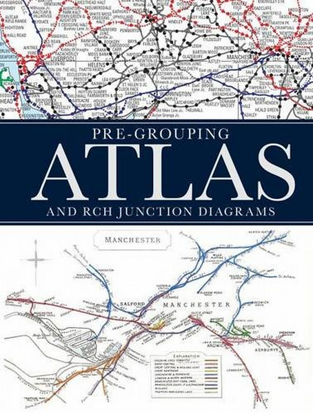 2014 Pre Grouping Atlas and RCH Junction Diagrams, October 31st 2014, 256 pp £30.00, ISBN 0-7110-3810-4. Hardback, larger format 28cm x 21cm. Two versions exist, this one has a black background to the cover text.