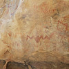 In some parts of Hueco Tanks, there are chambers that have natural alcoves. Many of these contain pictographs.