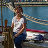 Kristina Bruechle on one of the tall  ships.