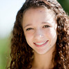 Real People: Closeup Headshot Smiling Caucasian Teenage Girl Curly Hair