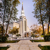 Boston LDS TEmple walkway