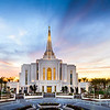 Gilbert Temple Bright Sunset Panorama
