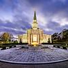 Houston LDS Temple at twilight
