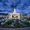 Mt Timpanogos Temple with Flowers