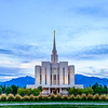 Oquirrh Mountain LDS Temple - Back Sunset