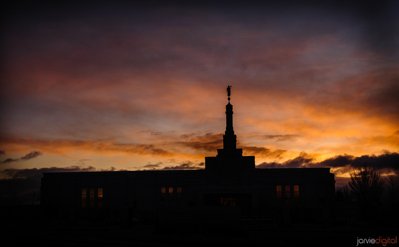 Reno Temple Silohuette Sunset