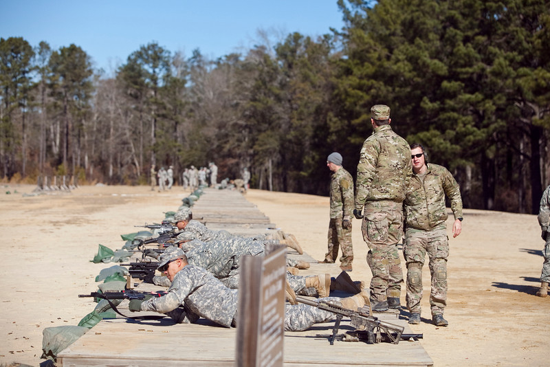 (FORT BENNING, Ga) Soldiers from the 1st Platoon, A Company, 1-15 Infantry Battalion, 3rd ABCT and Airmen from the 17th Special Tactics Squadron, Air Force Special Operations Command conduct Joint Weapons Training. (Photos by: Patrick A. Albright/MCoE PAO Photographer)