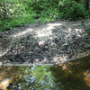 Brown stained water<br /> Bullett Creek #3<br /> Starr Mtn TN