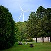 Wind Turbine,  Adirondack Chair, campus