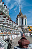 The Temple of Dawn, Wat Arun on the west bank of the Charo Phraya river in Bangkok, Thailand, Asia.