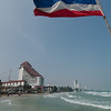 View of the Hua Hin coastline from Khao Takiab Beach