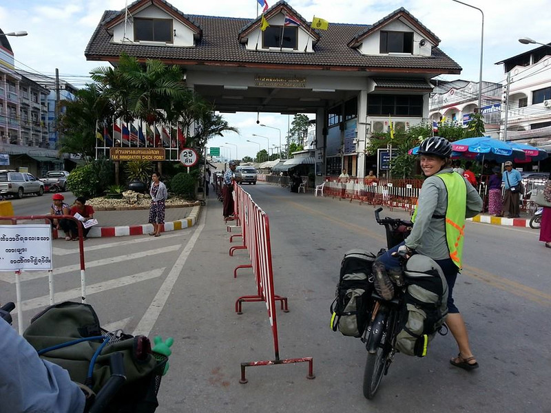 About to enter Myanmar via the Thai-Myanmar Friendship Bridge (photo by Yun)