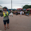 Stopping at a village market for dinner supplies