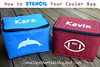 HOW-TO Tutorial for cooler bag stencil