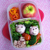 Super easy, super cute(!) pink rice piggies from Bentos on the Bayou. Get the DETAILS ► http://bit.ly/1deIbq6