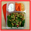 chickpea pesto salad
