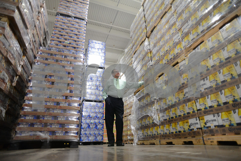 5.29.14- GAITHERSBURG, MD- Photo of Gus Montes de Oca, Chief of Opeations at the Montgomery County Department of Liqour Control, shown here at their warehouse facility.  (The Daily Record/Maximilian Franz)