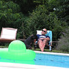 Massimo resting by the pool