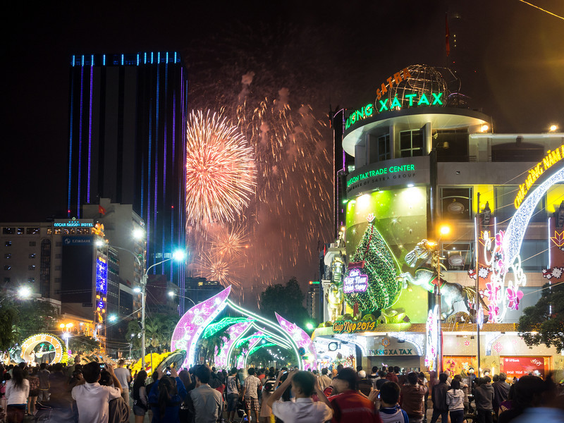 Fireworks over Saigon
