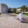 At the Sultan's Palace Grounds, Muscat, Oman