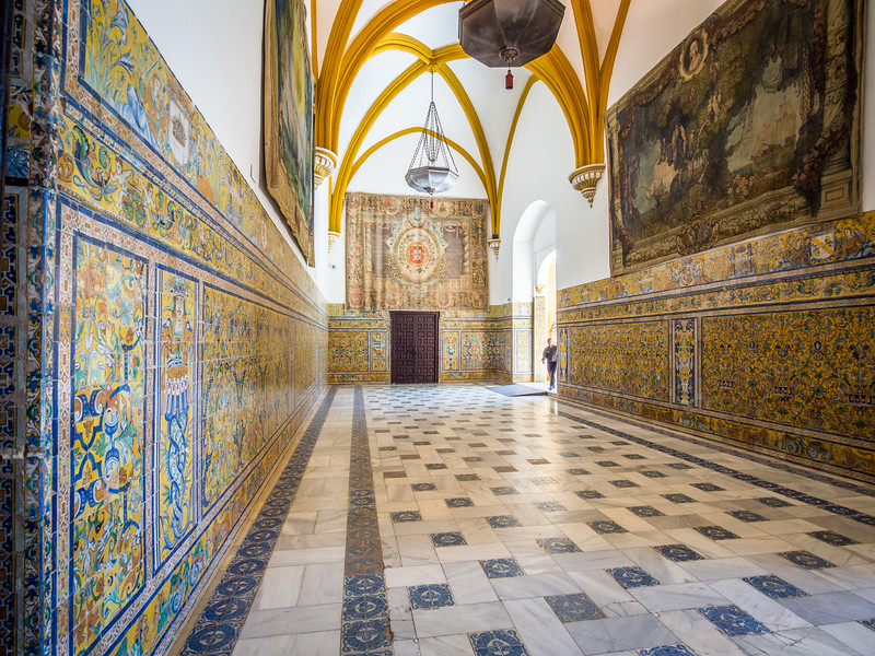 Tapestries and Tilework, Alcazar, Seville
